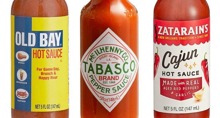 Zatarain's, Old Bay, and Tabasco Hot Sauces