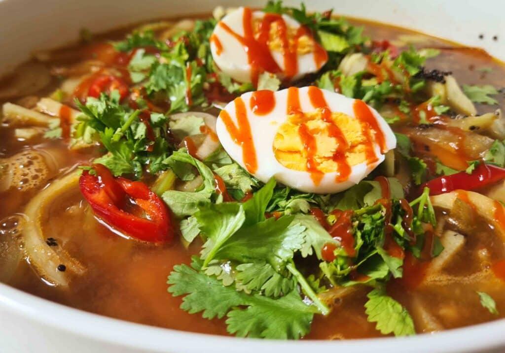 Japanese quinoa soup bowl