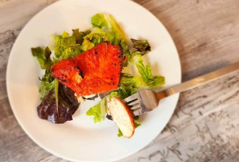Tandoori-style chicken on a plate