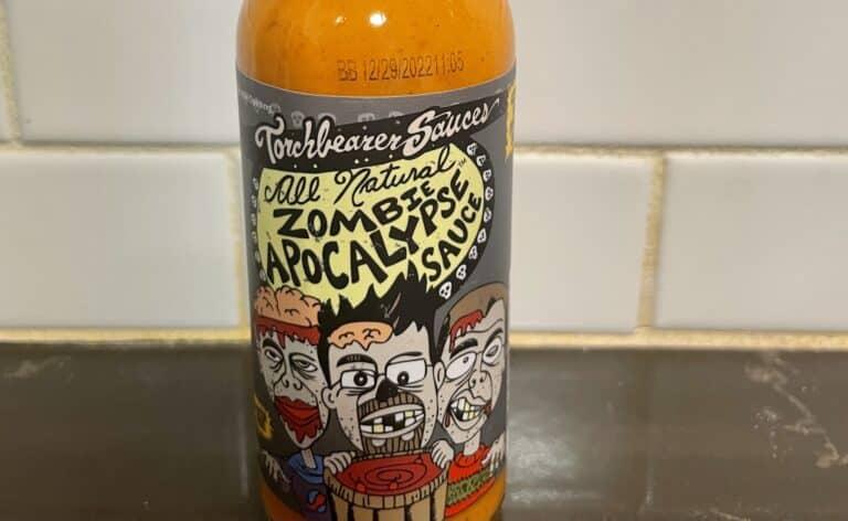 Zombie Apocalypse Hot Sauce label