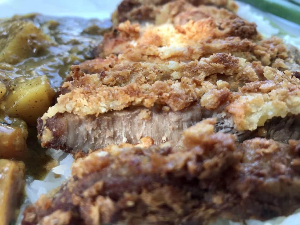 Pork cutlet curry (Tonkatsu Kare) close-up