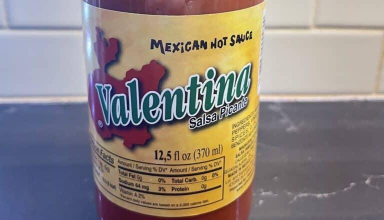 Valentina Hot Sauce label
