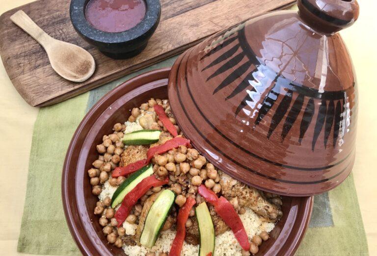 Algerian Spicy Chicken And Chickpea Tagine