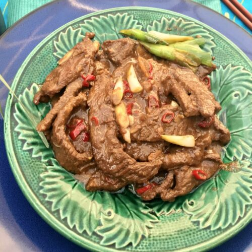 Spicy Chinese beef with cumin